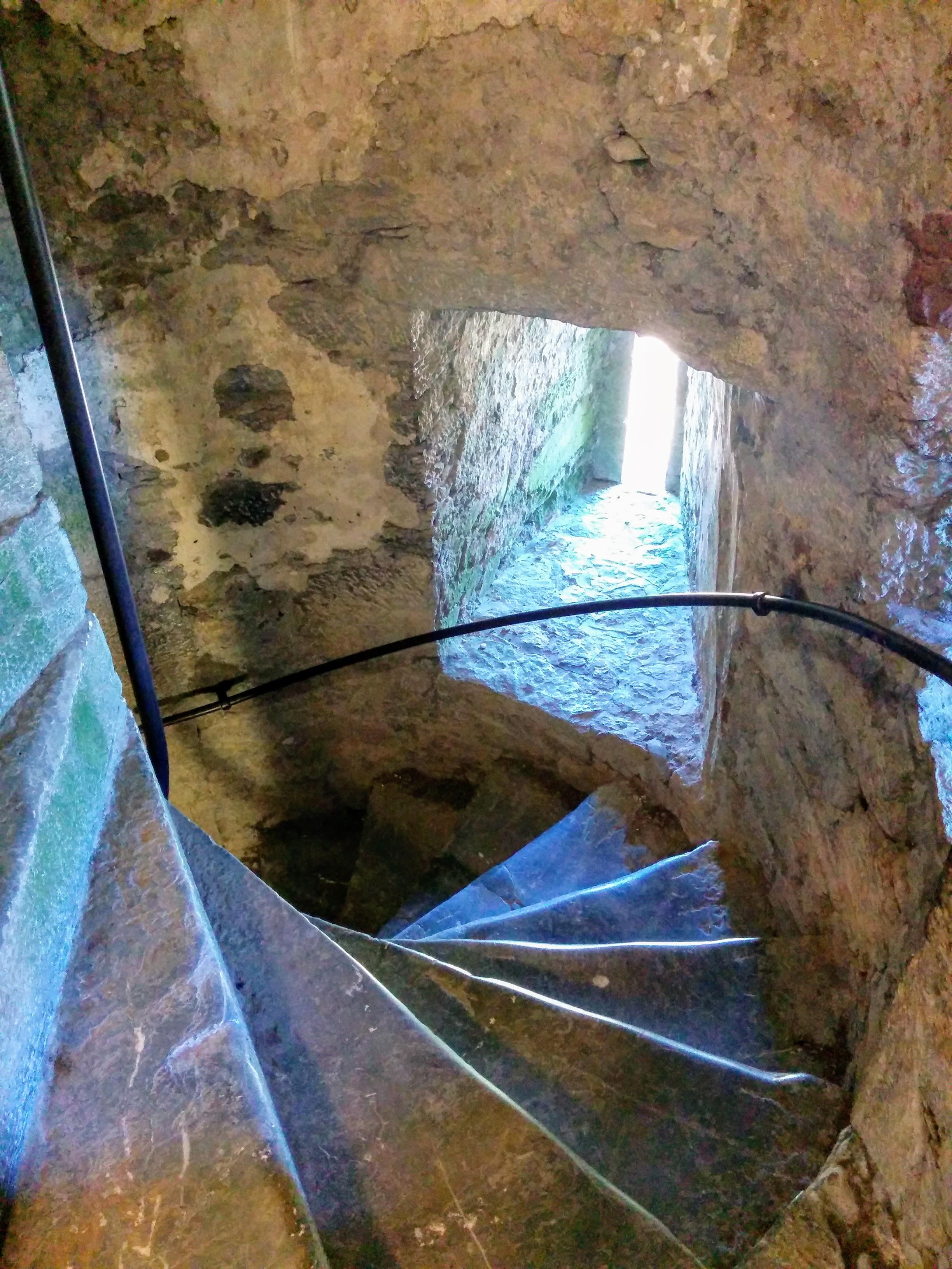 Winding stair case in Blarney Castle