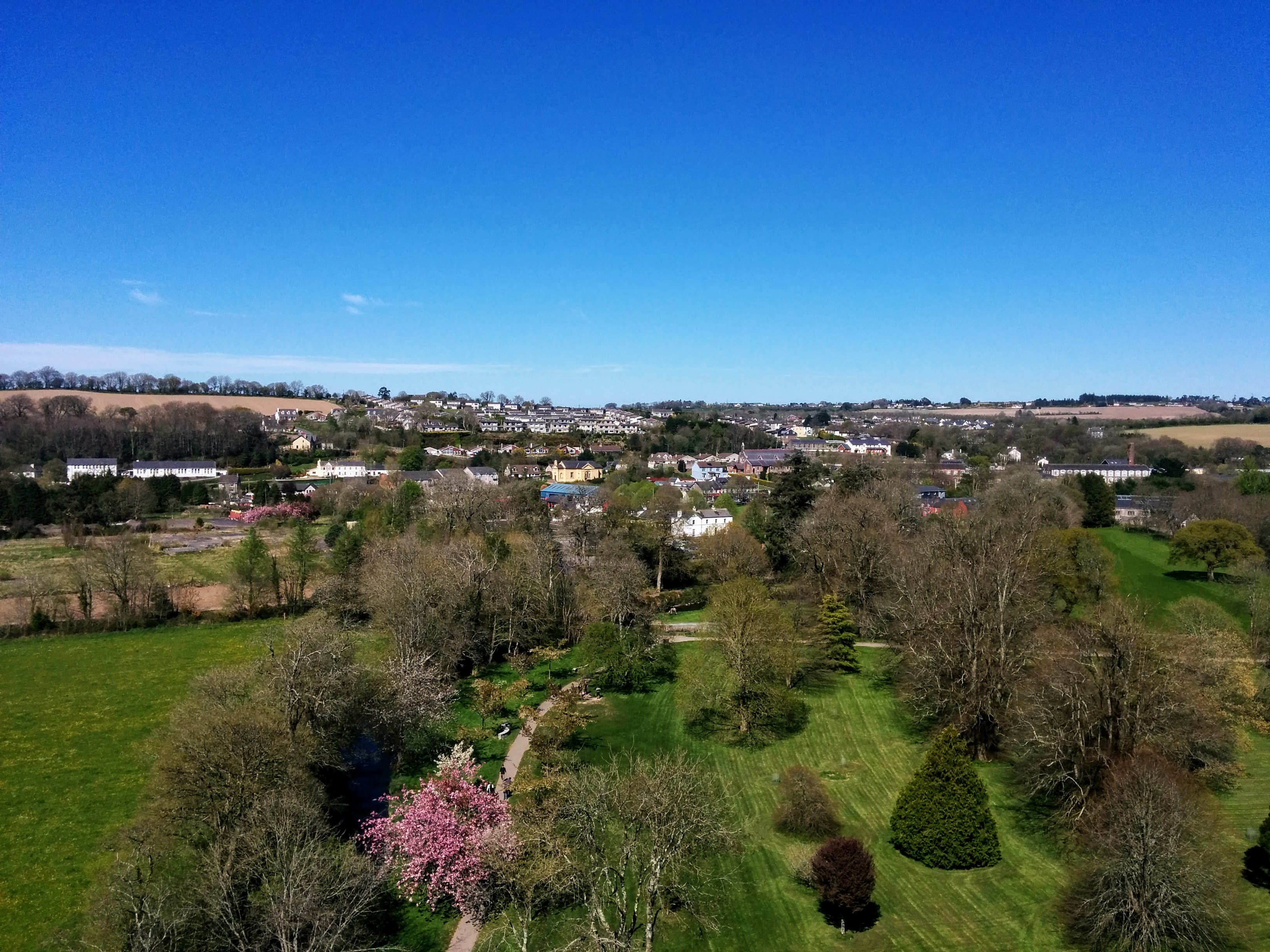 Beautiful view from the top of Blarney Castle